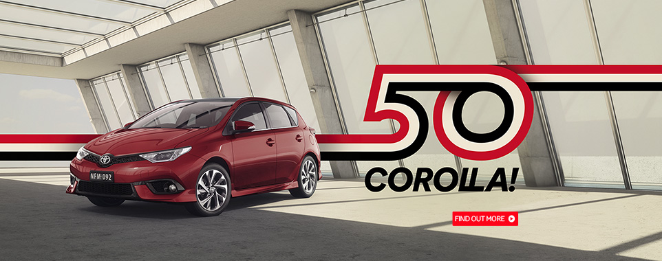 Corolla 50th Year Banner